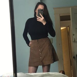 ABERCROMBIE Button Up Suede Skirt